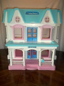 Rare 1993 Fisher Price Loving Family Dream Doll House Home Pick Up