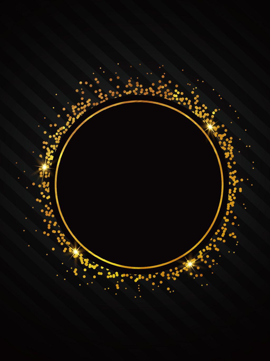 Kreativer Minimalistischer Hintergrundentwurf Des Schwarzen Goldwindes Background Design Black And Gold Aesthetic Black Background Wallpaper