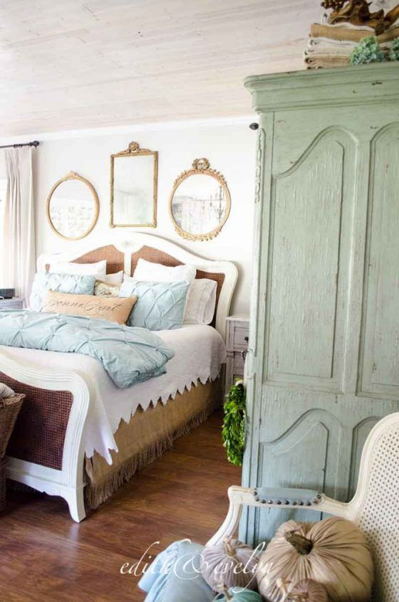 French Country Fall Home Tour The Master Bedroom Edith Evelyn Rustic Chic Bedroom French Country House Chic Bedroom Decor