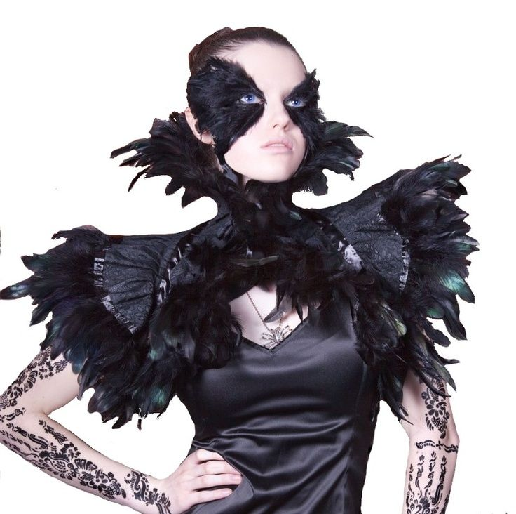 victorian gothic feather costumes #rooster #coquetails