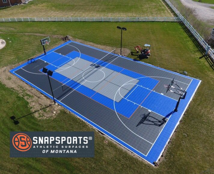 Familyfun On A Backyard Full Size Gamecourt Built For