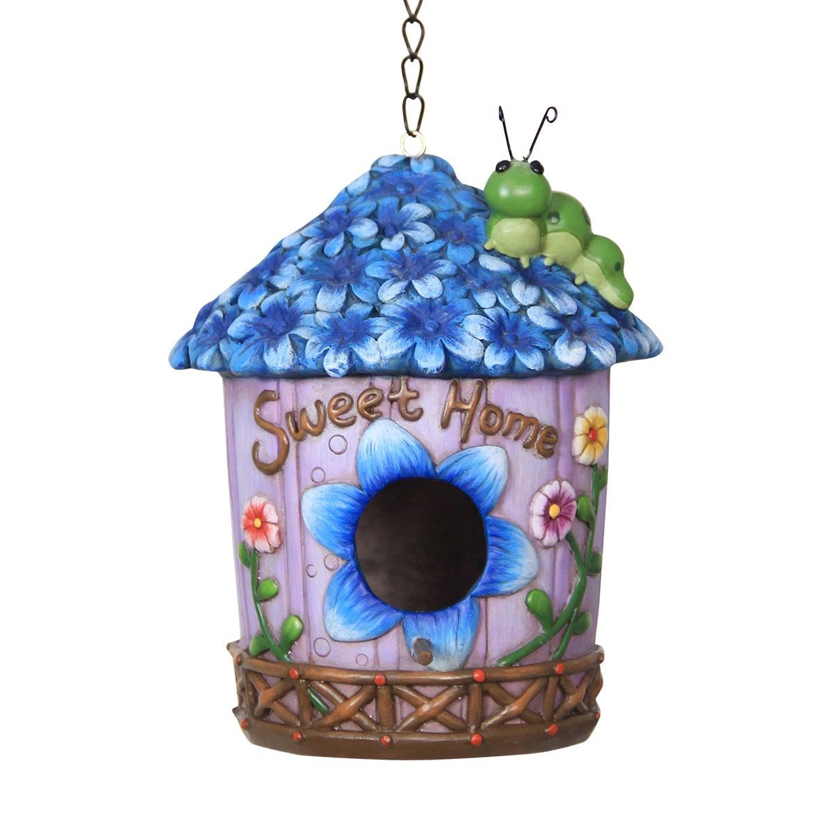 Blue Iris Bird House | Products | Bird houses, Birds, House