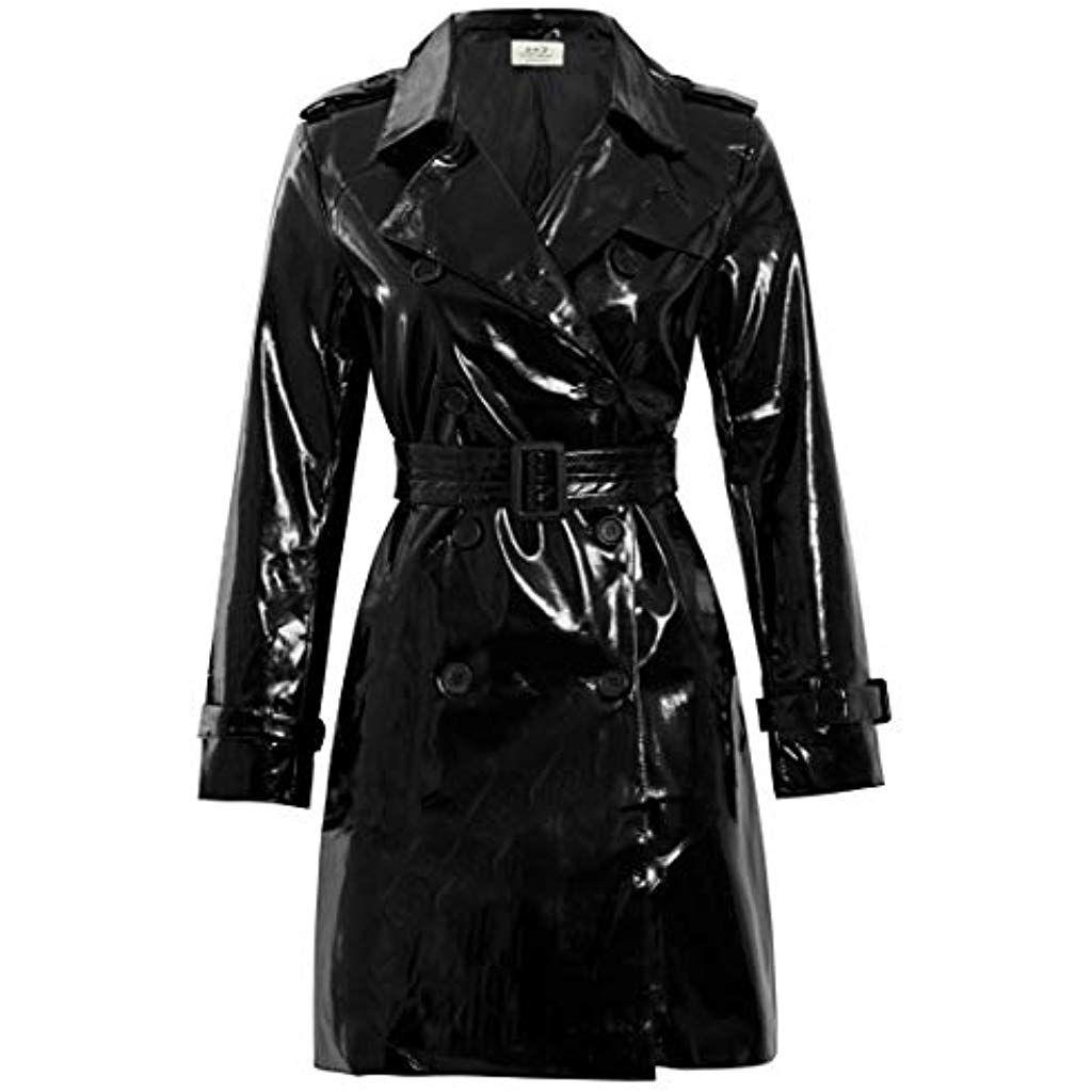 SS7 Damen Patent PU Mantel #Bekleidung #Damen #Tops T Shirts