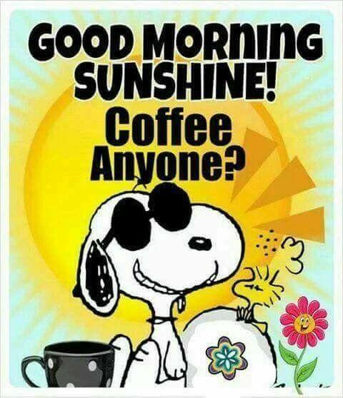 Snoopy Coffee Guten Morgen Sonnenschein Morgen Memes