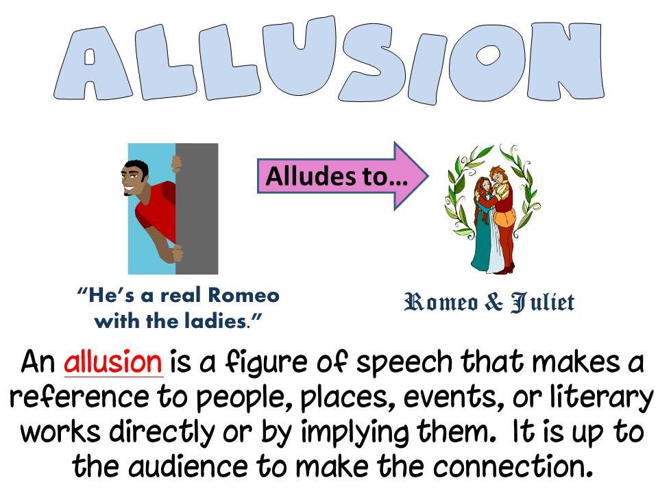 Image Result For Allusion Literary Device Illustrated Words