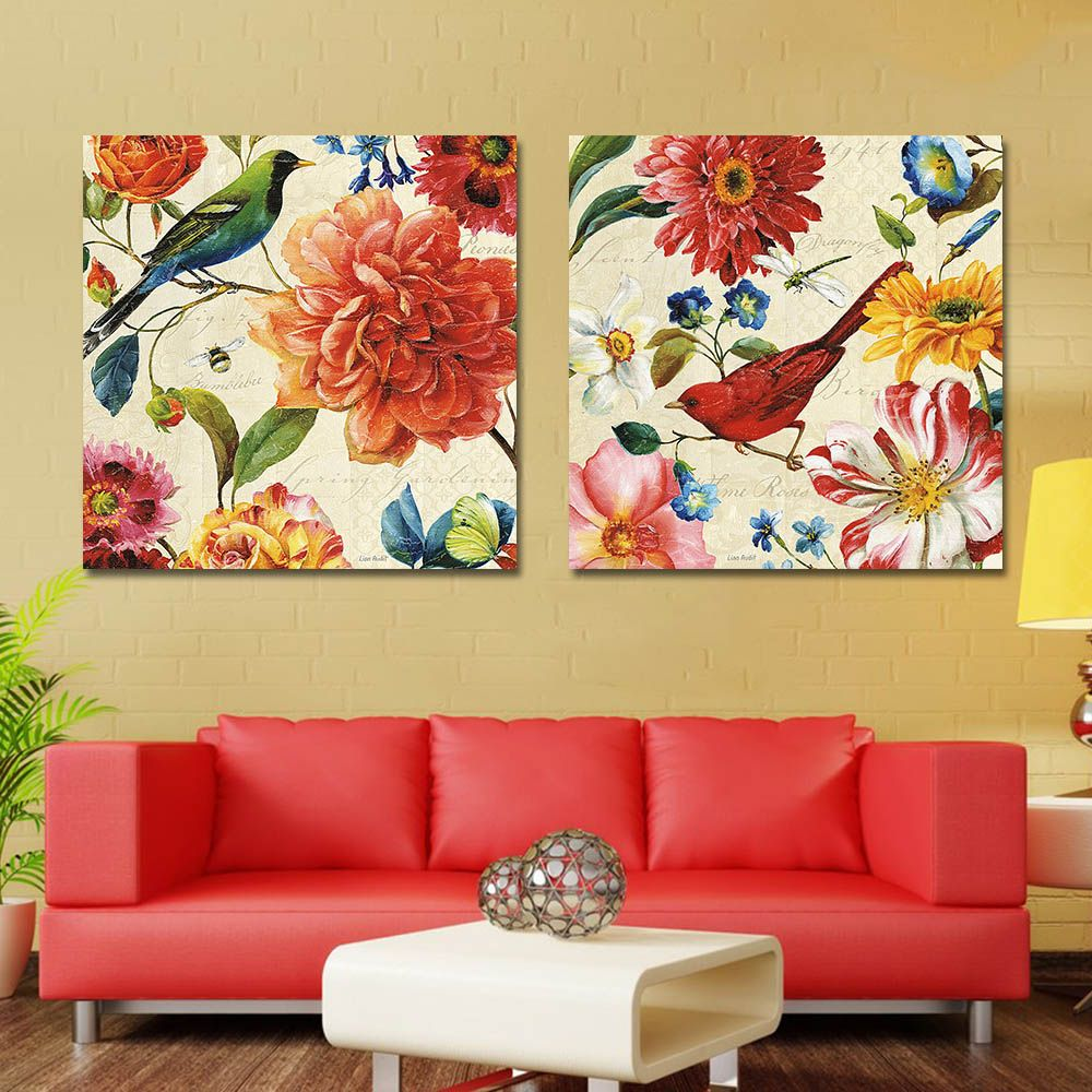 Flower Canvas Pictures for Bedroom Flower Painting Wall Art Picture ...