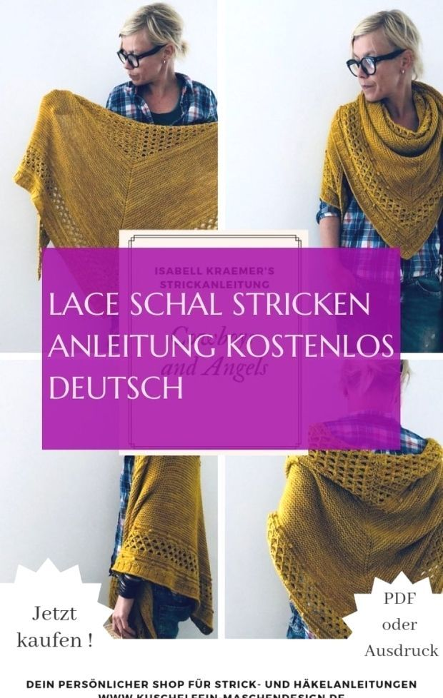 Photo of encaje scarf herido guide free german & #lace scarf #stricken #manual … ,  #am…