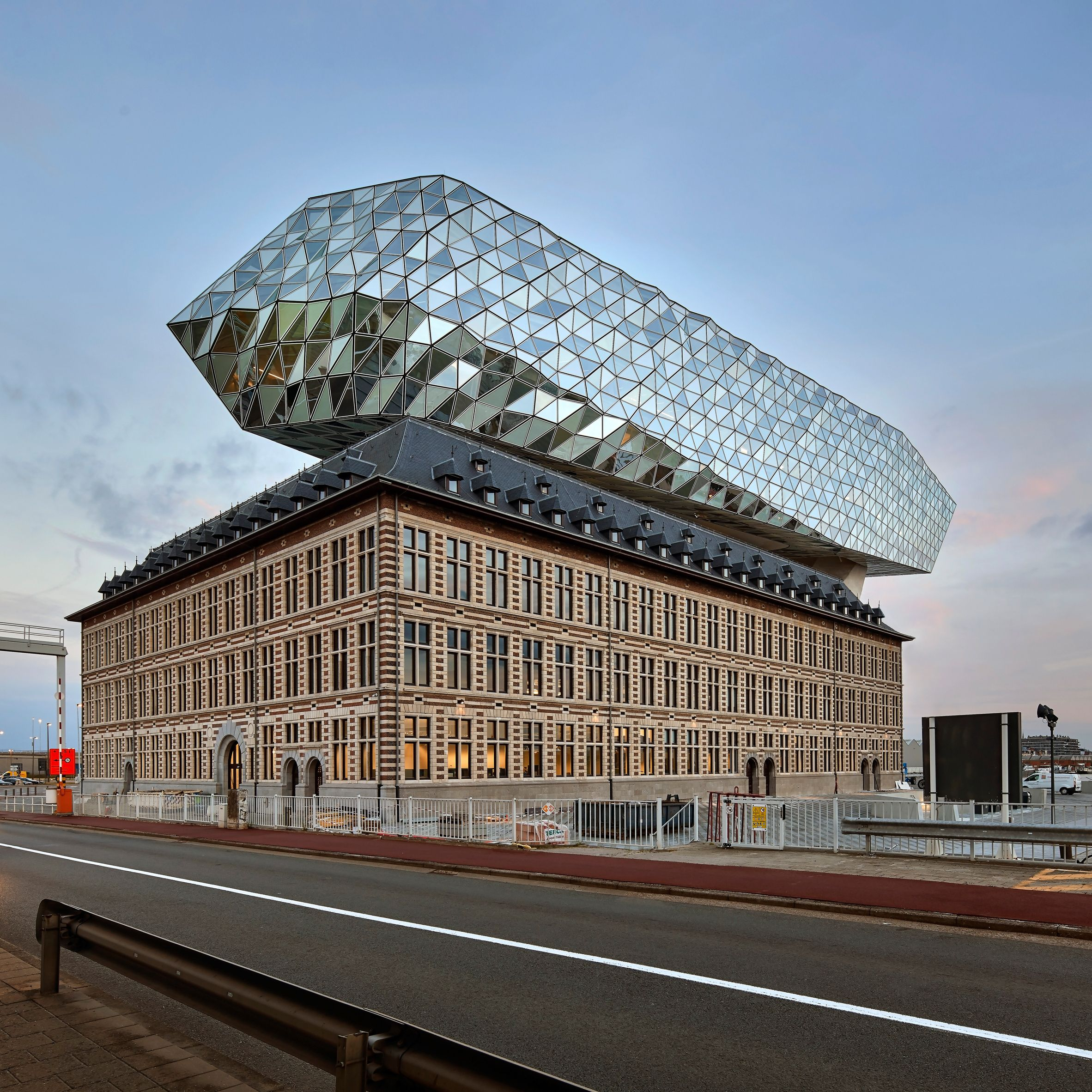 Modern Architecture Zaha Hadid zaha hadid architects sits glass lump on top of antwerp port