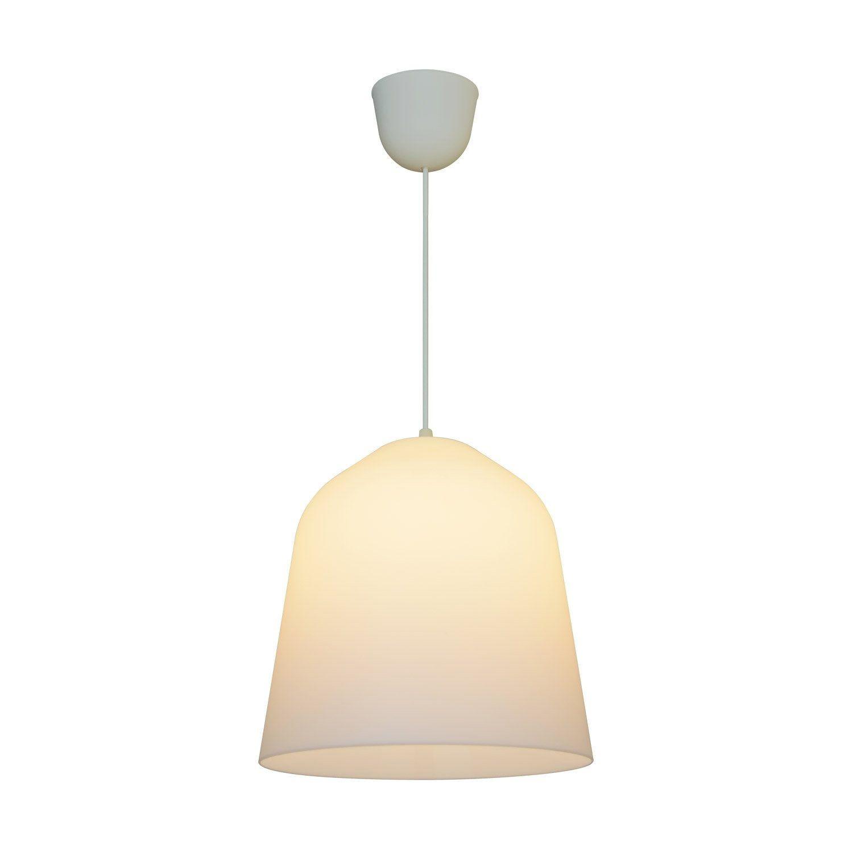 Suspension E27 Design Bizen Plastique Blanc 1 X 60 W Luminaire Plafond Design Et Suspension