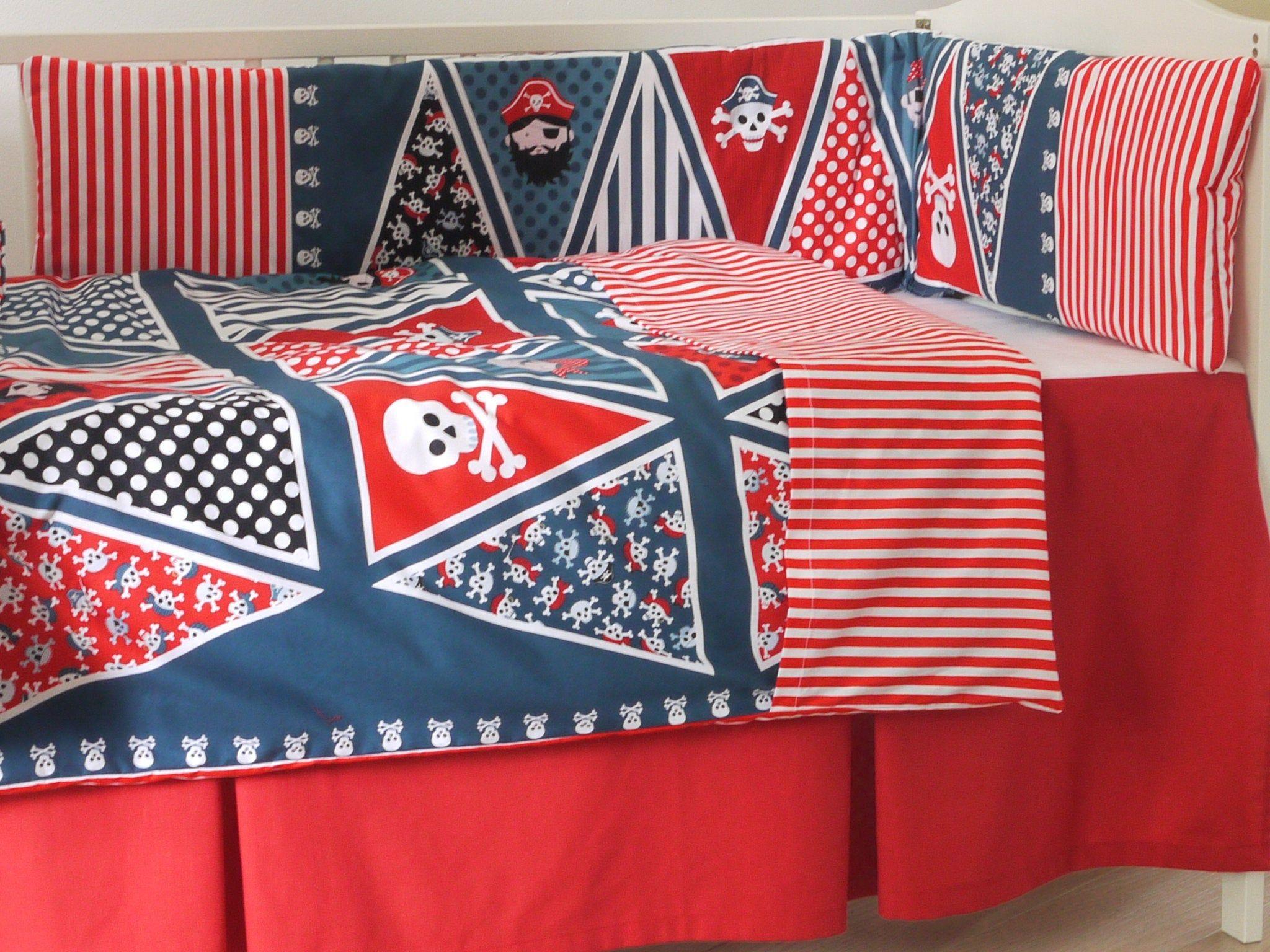sale retailer b1092 fb9eb PIRATE NURSERY BEDDING Pirates Sheet Duvet Covers+Nautical ...