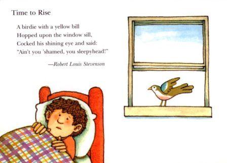 Time To Rise By Rls A Singable Poem Robert Louis Stevenson
