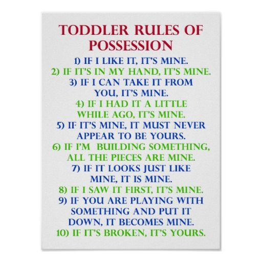 High Quality Toddleru0027s Rules Of Possession Funny Poster Sign