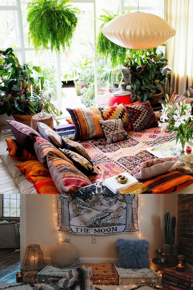 How To Desing Your Hippie Living Room Bohemian Chic Living Room Boho Style Furniture Hippie Home Decor