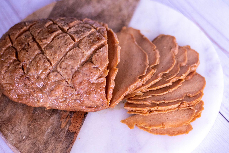 Vegan Glazed Deli Ham 86 Eats In 2020 Deli Meat Recipes Deli Ham Honey Baked Ham