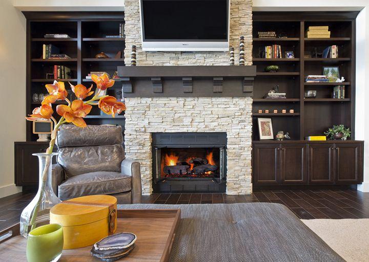 Kirkland Custom fireplace and built-ins Buchan Custom Homes