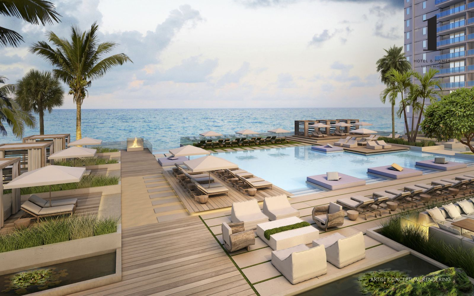 1 Hotel Residences Can Take Advantage Of Lots Of Of The Building S Hotel Amenities Which Consist South Beach Hotels Miami Hotels South Beach South Beach Condo