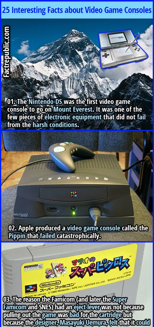 25 Interesting Facts about Video Game Consoles Fact