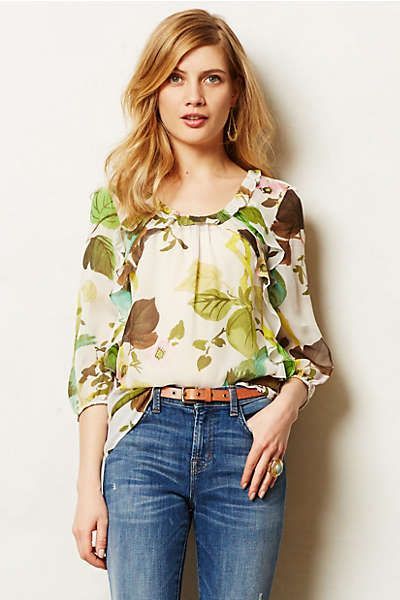 Cotati Silk Blouse with jeans - gorgeous