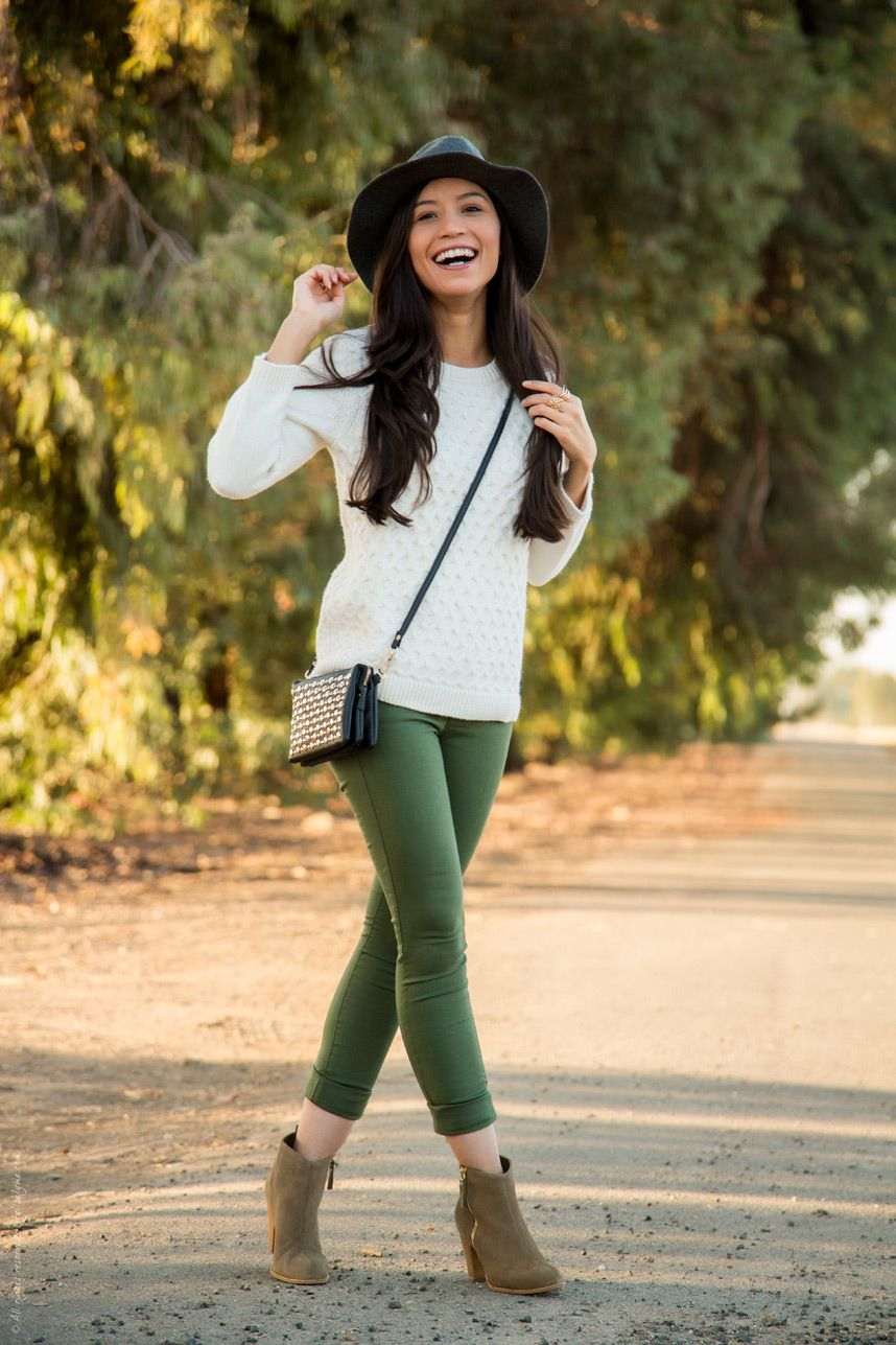 What to Wear With Olive Green Pants This Fall | Olive