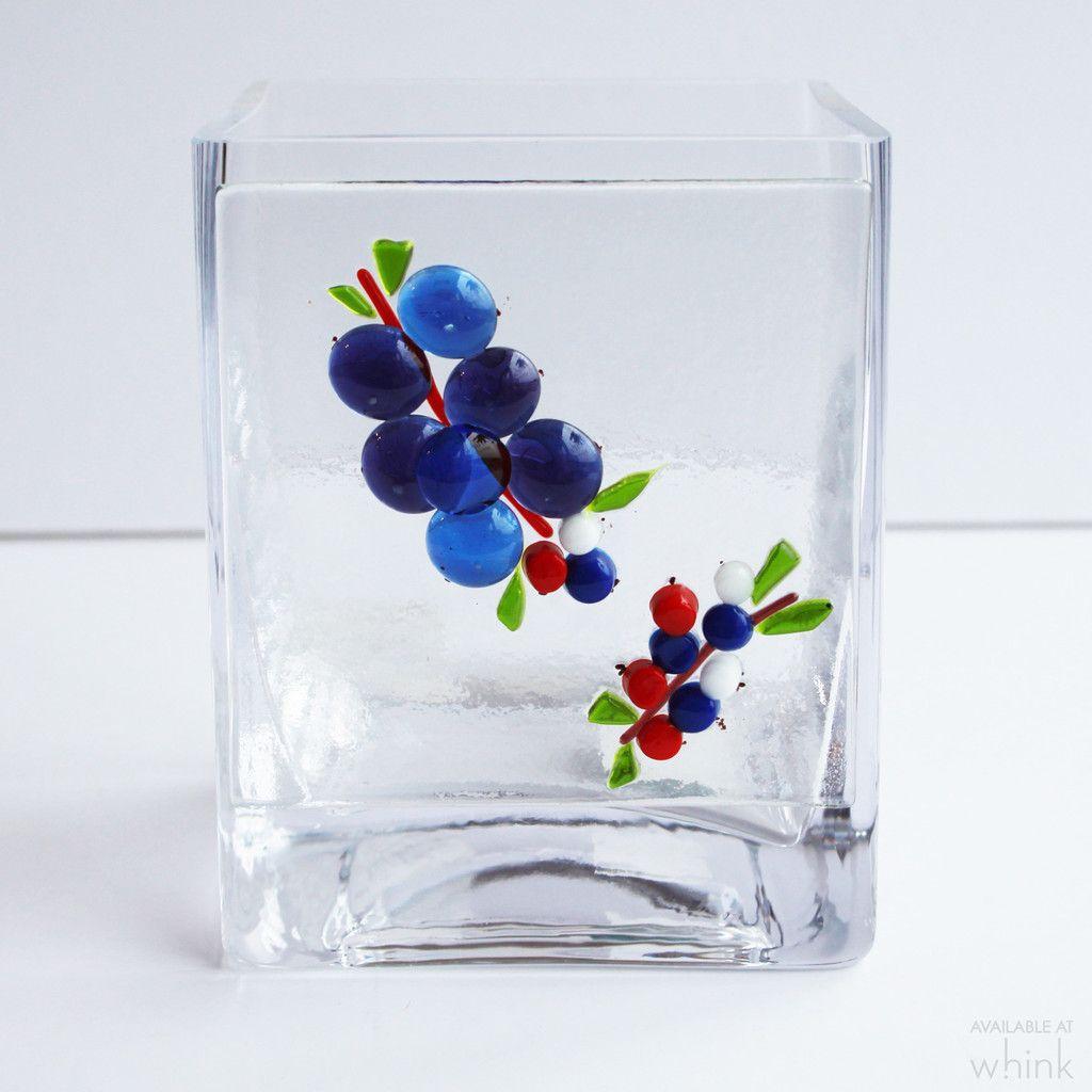 Blueberry Glass Vase