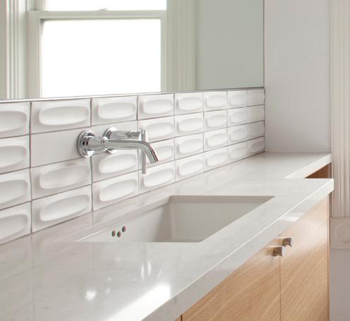 Heath 3 Dimensional Tile In White Bathroom All