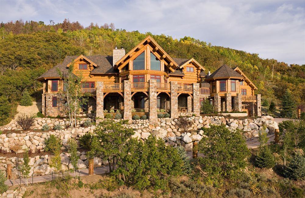 Dream home by montana log homes dream home pinterest for Log cabin dream homes