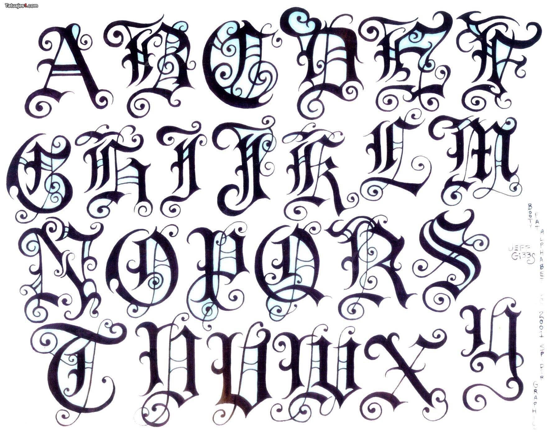 Imagen De Http Www Tatuajes1 Com Thumb Grande Textos Letras Goticas 1519 Jpg Tattoo Lettering Styles Lettering Alphabet Lettering Design