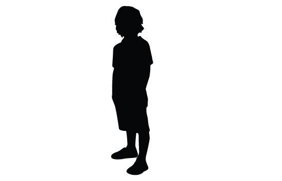 Kids Silhouette Vector