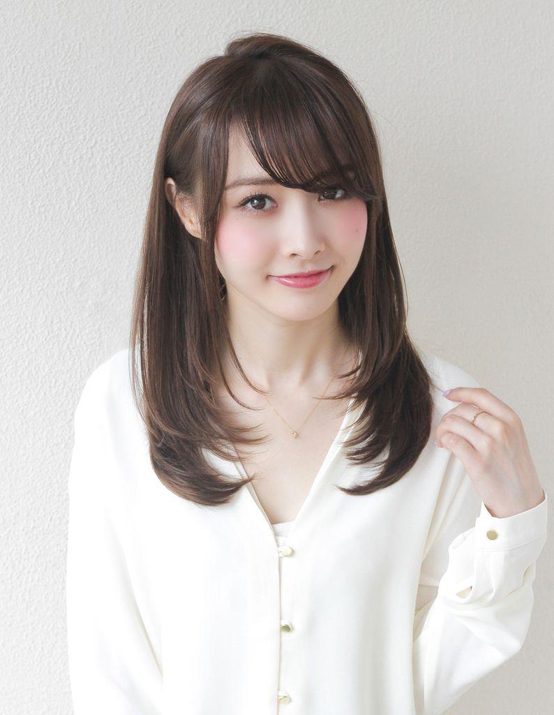 カットで大人かわいいレイヤーセミロング(to-23) | ヘアカタログ・髪型