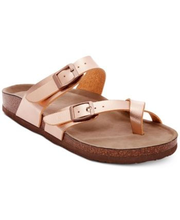 d2957dd168d3 Madden Girl Bryceee Footbed Sandals - Gold 10M