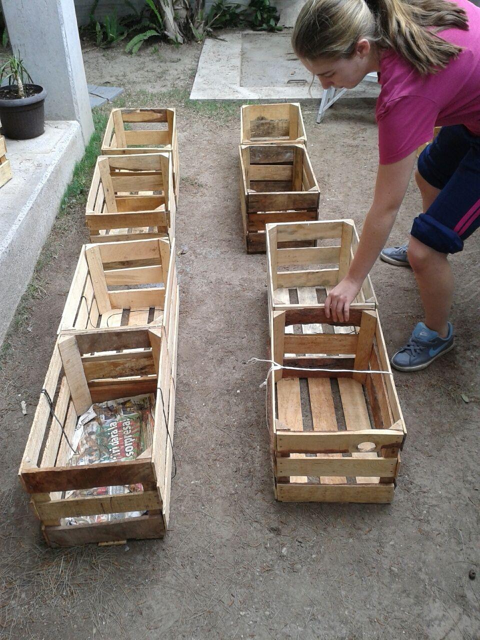 8 esta imagen muestra el primer paso que realizamos para - Jardineras de madera caseras ...