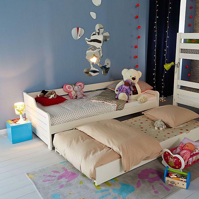 cosa lit banquette gigogne blanc en pin avec tiroir 90x200cm banquettes kids s and bedrooms. Black Bedroom Furniture Sets. Home Design Ideas