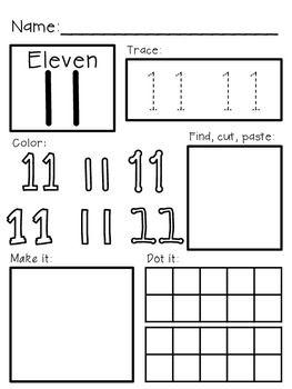 Super Simple 123 Number Worksheets S 11 20 Prek K Sp Number Worksheets Basic Math Worksheets Simple Math