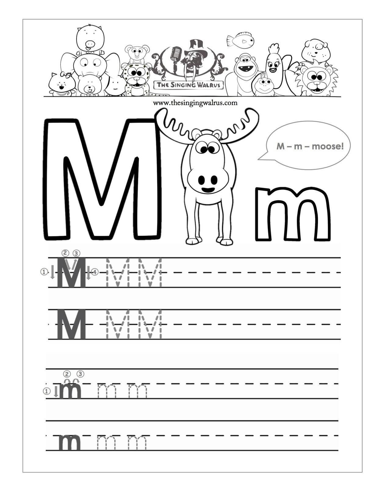Abc Handwriting Worksheets For Kindergarten In