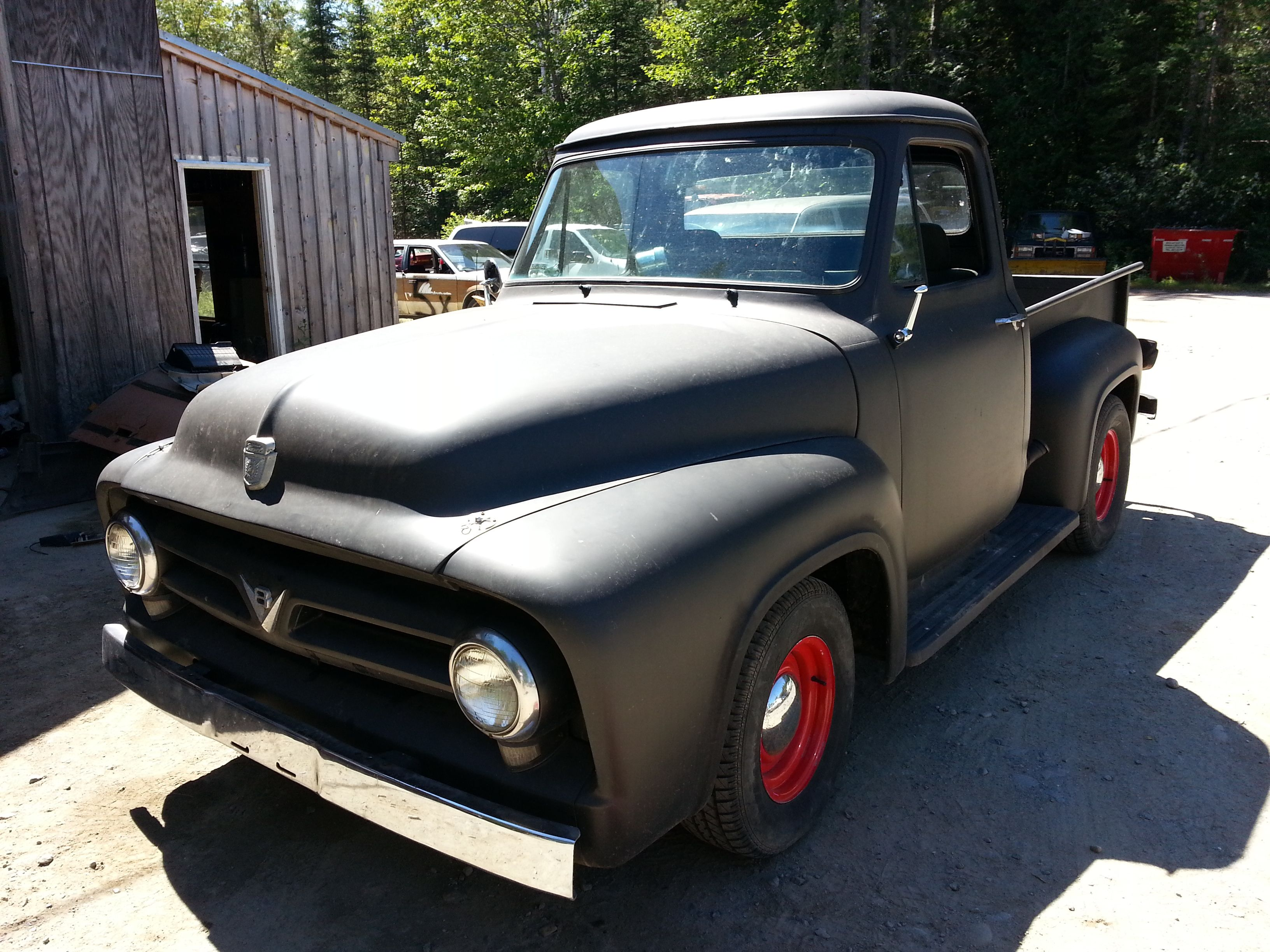 1953 ford f100 with 460 lincoln rat rod