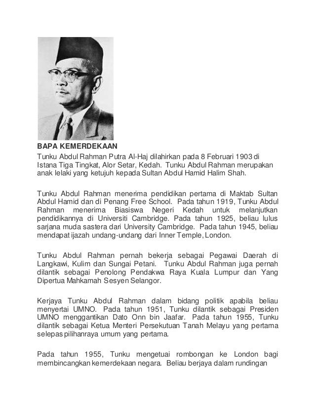 Biodata Tunku Abdul Rahman Bapa Kemerdekaan Google Search Tunku Abdul Rahman Doodles Ruby Rose