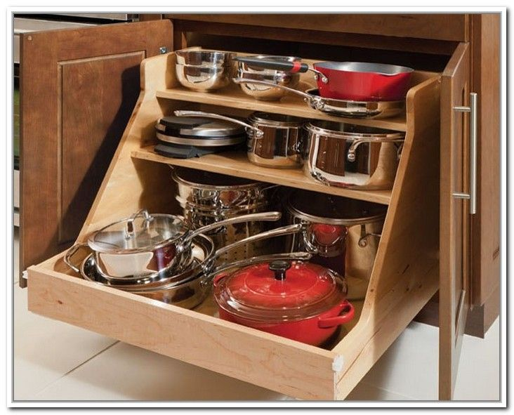 Pots And Pans Storage Solutions General Storage Best Storage Ideas D9r26pkrxa Kitchen Cabinet Storage Solid Wood Kitchen Cabinets Pan Storage