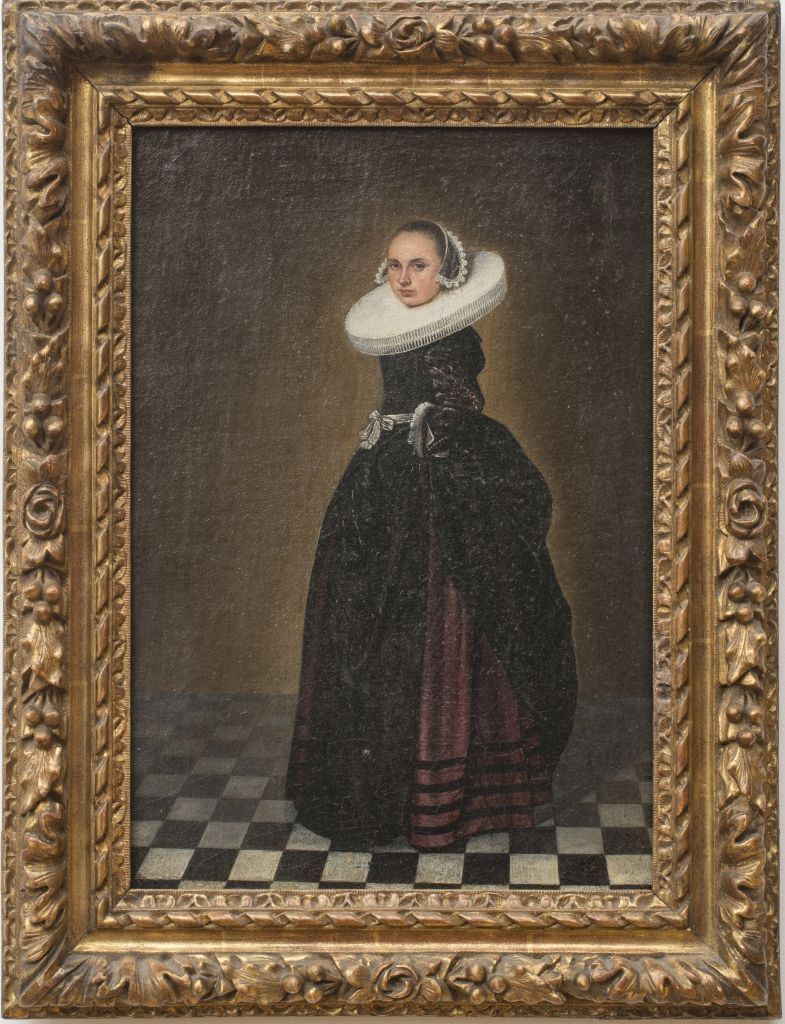 Flemish School Portrait Of A Woman Oil On Canvas Laid Down On Wood Panel 16 3 4 X 11 3 4 In Image 21 X 16 1 2 In Frame Stair Gallery Medieval Art