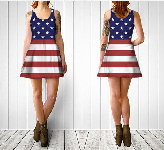 c315a77396292e American Flag Dress - Fit or Flare