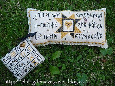 Two Pinkeeps de Goode Huswife punto de cruz cross stitch point de croix