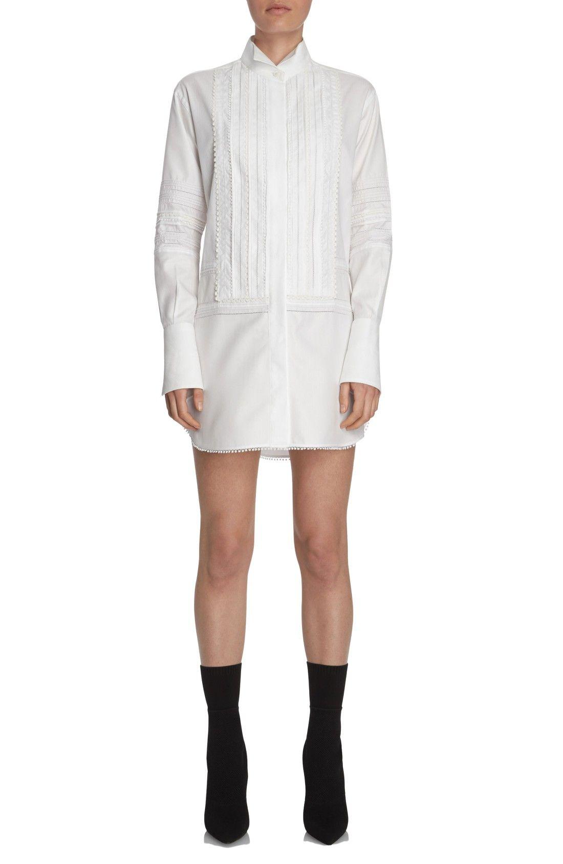 New BURBERRY Pintuck Cotton Shirtdress fashion online. [$1195]?@shop hoodress<<