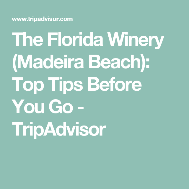 The Florida Winery Madeira Beach Top Tips Before You Go