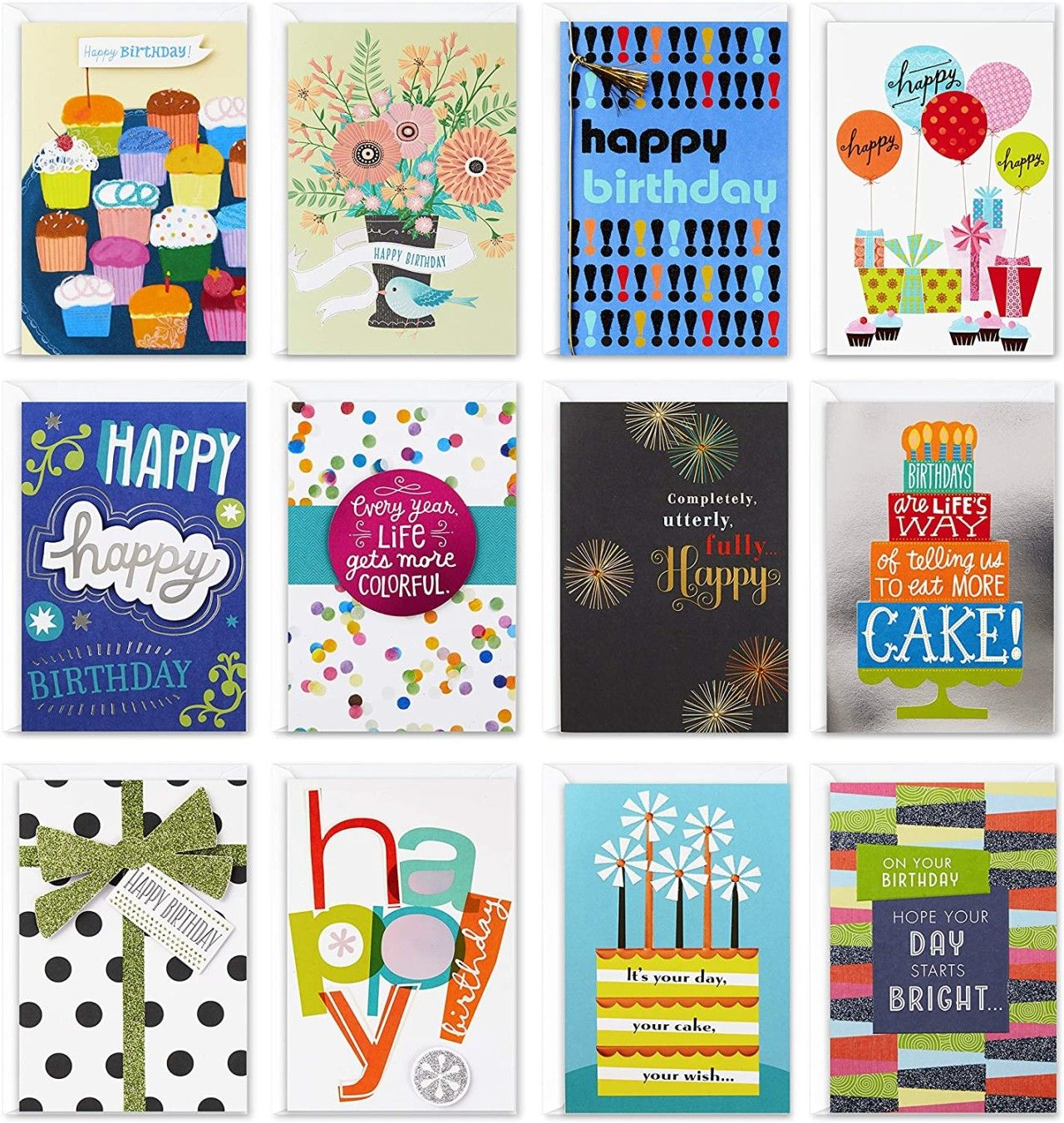 Hallmark Assorted Birthday Greeting Cards 12 Count Only 13 01 Become A Coupon Queen Hallmark Greeting Cards Greeting Card Packs Unique Birthday Cards