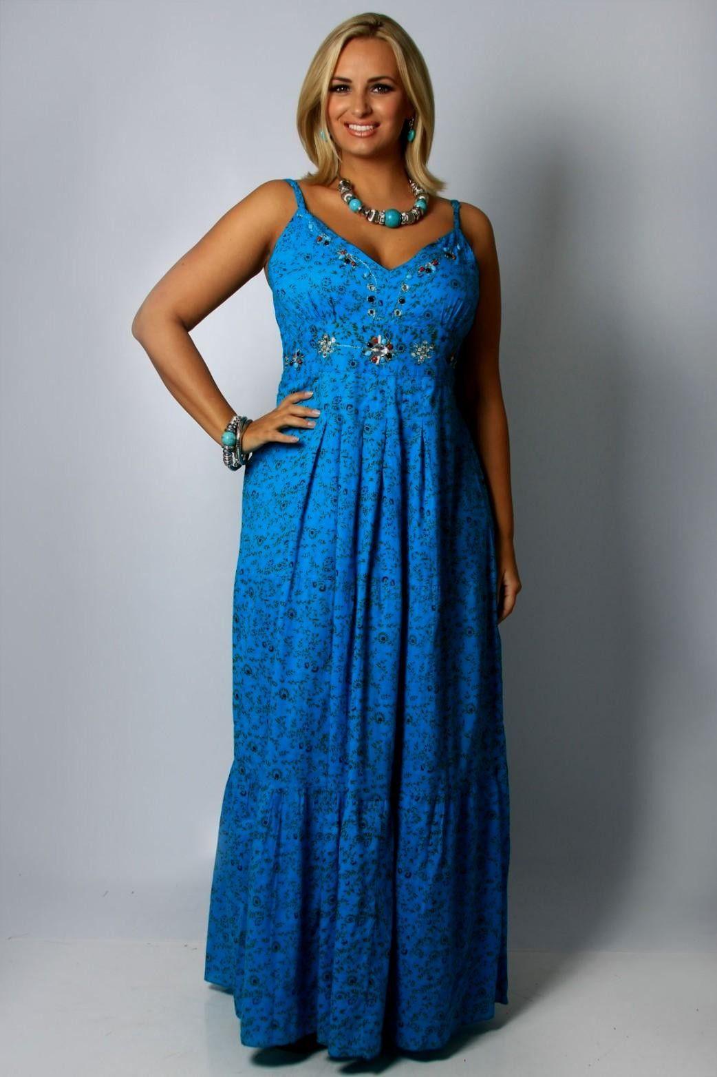 fb66cd7c75 Maxi Sun Dress | Plus Fashion | Plus size maxi dresses, Plus size ...