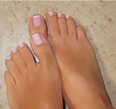 My Beautiful French Pedicure