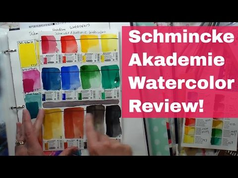 Schmincke Akademie Watercolor Review Youtube The Frugal