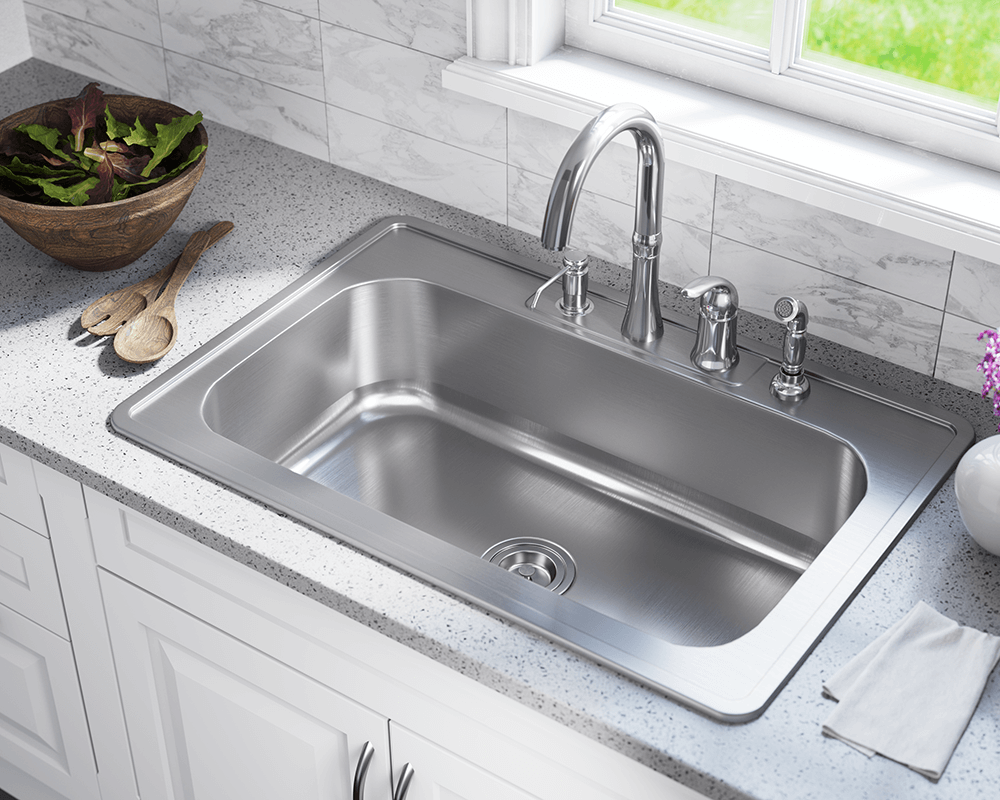 Us1030t Single Bowl Topmount Stainless Steel Sink Stainless