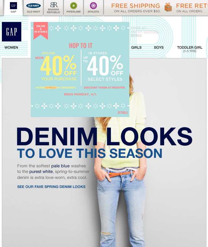 40 Off Online At Gap Via Promo Code Gapegg Also At Avenue Clothing Via Av131215 Coupon Via The Coupons App Coupon Apps Coupons App
