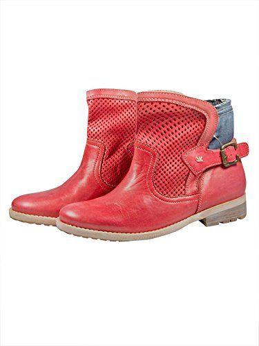 2b2be2d22d1d45 Lieferumfang  1 Paar Stockerpoint Damen Trachten Stiefeletten rot. Farbe   Rot. Material