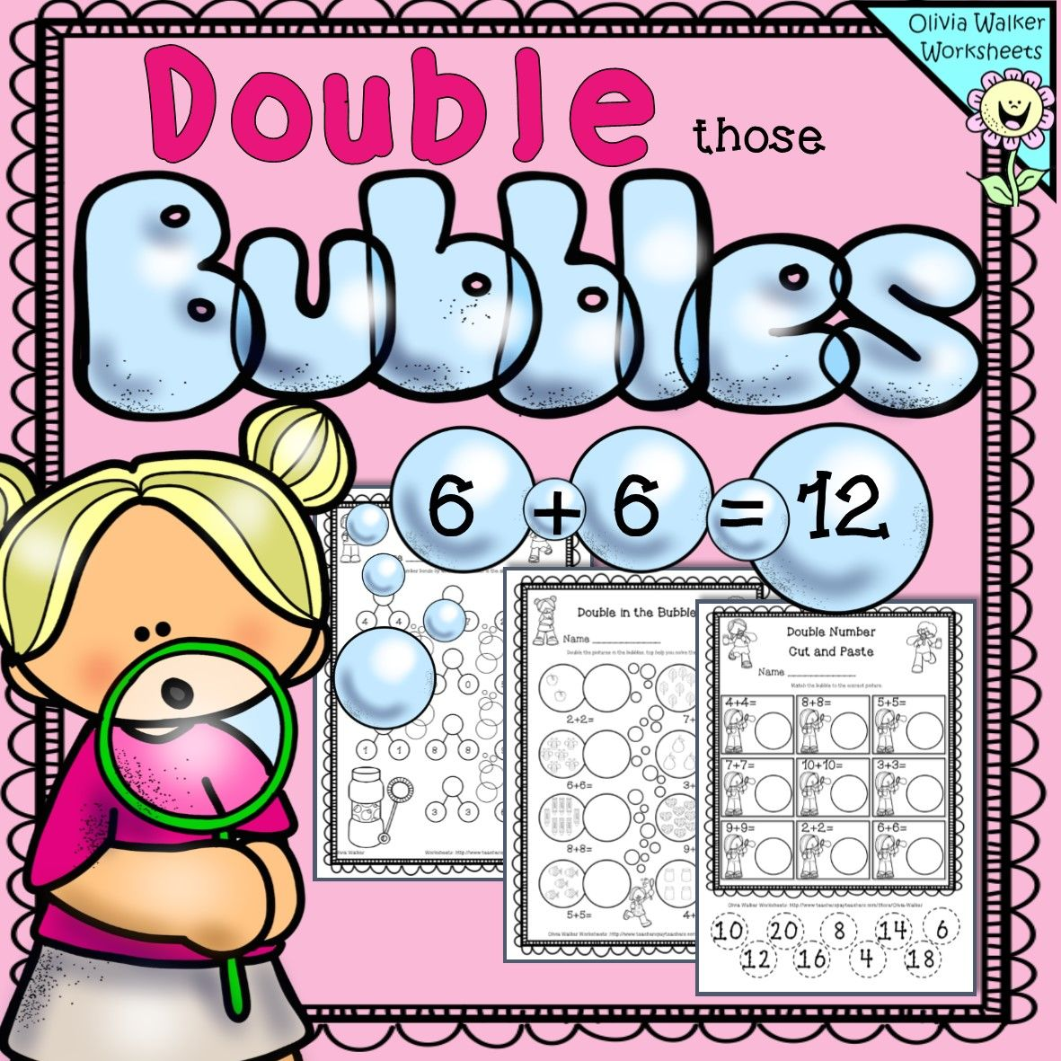 Doubles Facts Numbers Worksheet Free
